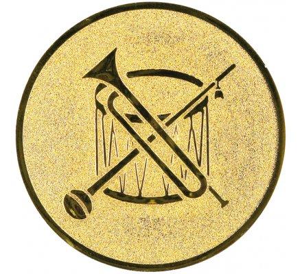 Centre instruments musique Diam. 25 mm
