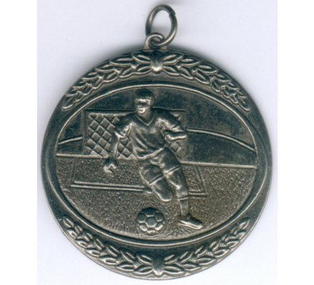 Médaille football argent Diam. 50 mm