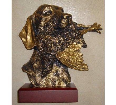 Trophée tête de chien 26 cm