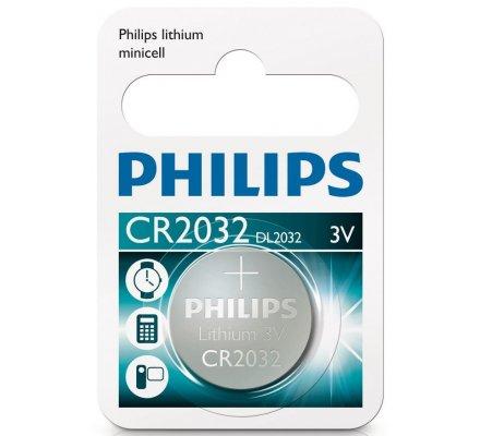 1 pile bouton Philips CR2032 - 3 v