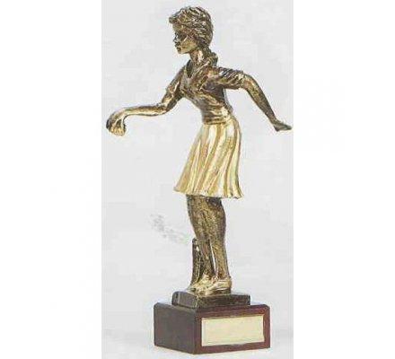 Trophée pétanque femme 30 cm