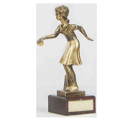 Trophée pétanque femme 23 cm