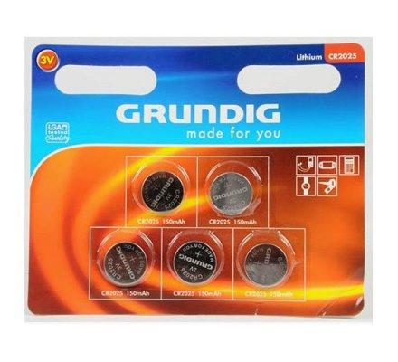 5 piles bouton Grundig CR2025 - 3 v