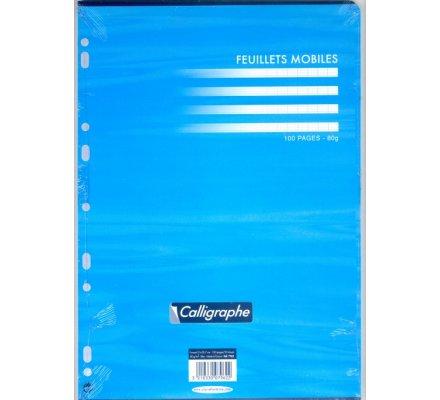 Feuillets mobiles A4 - bleu - 100 p - séyès
