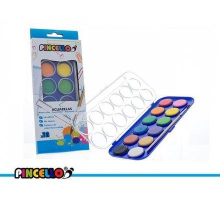 Pastilles de peinture à l'eau x 12