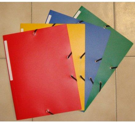 1 chemise en polypro à élastiques 3 rabats / coloris rouge