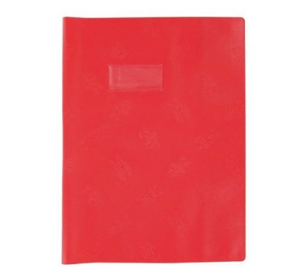 Protège-cahier 17x22 opaque Rouge