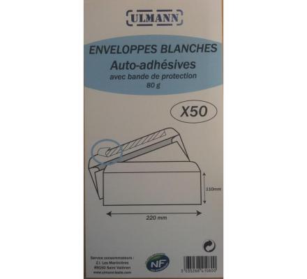 Enveloppes x 50 - 110 x 220 mm