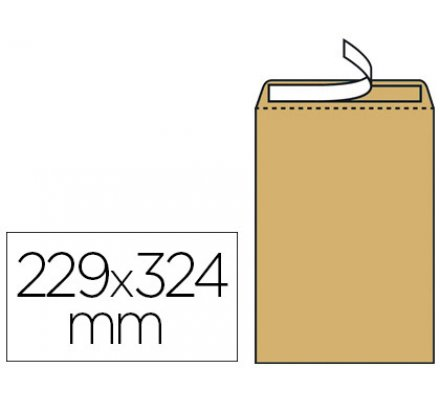Lot de 10 enveloppes kraft 229x324mm