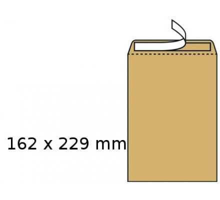 10 Pochettes kraft auto-adhésives 229 x 162 mm