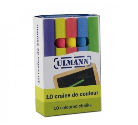 Craies de couleur x 10