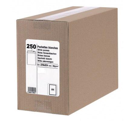 250 enveloppes avec fenêtre 229 x 324 mm