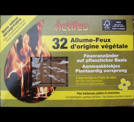32 cubes allume-barbecue