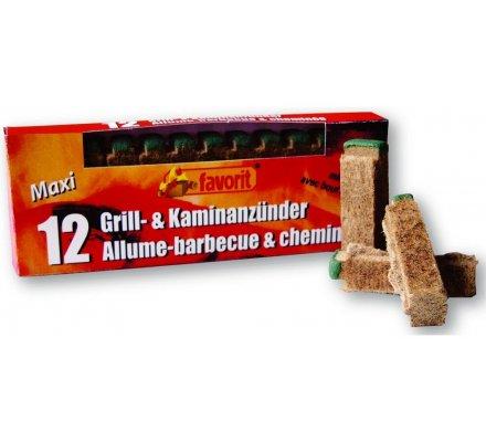 12 bâtonnets allume barbecue et cheminée