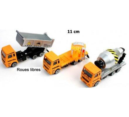 Camion métal 11cm - roues libres