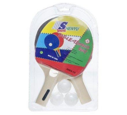 Raquettes de ping-pong x 2 + 3 balles