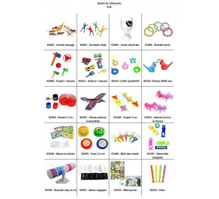 Sachet 100 jouets de kermesse N° 1