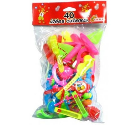 Sac 40 jouets plastiques