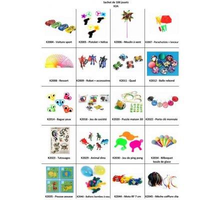 Sachet 100 jouets de kermesse N° 2