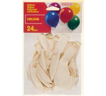 24 ballons Hélium à gonfler / Blanc