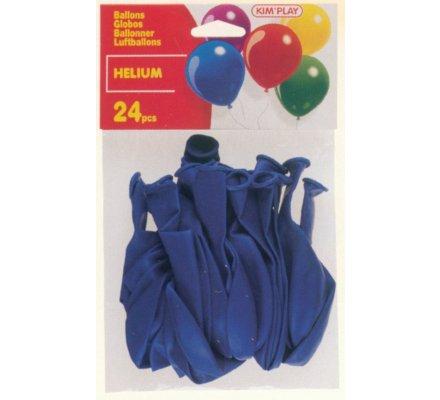 24 ballons Hélium à gonfler / Bleu