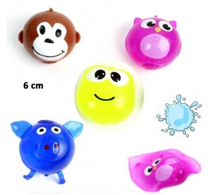 balle splash animal 6 cm