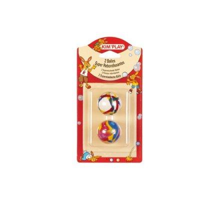 Balles rebondissantes 38 mm x 2