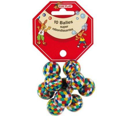 Balles rebondissantes 24 mm x 10