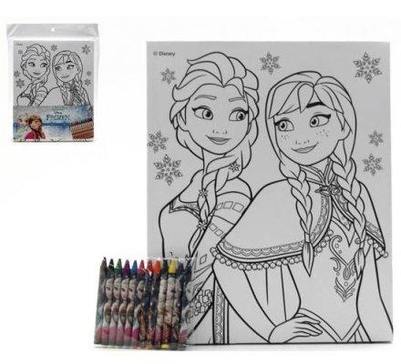 Toile + 12 crayons Frozen