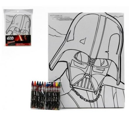 Toile + 12 crayons Star Wars
