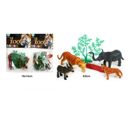 4 animaux du zoo 6 à 8 cm