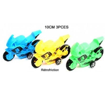Lot de 3 motos rétrofriction