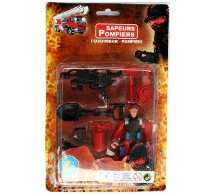 Figurine pompier articluée