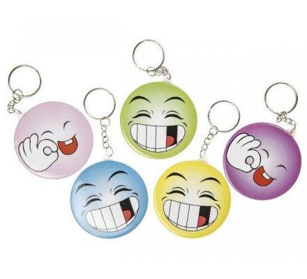 """Lot de 12 porte-clés """"visage/miroir"""""""