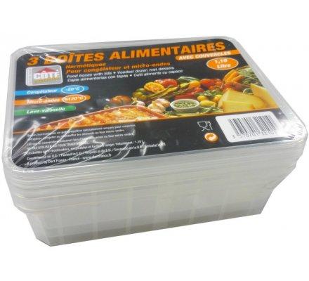 Boîtes alimentaires 1,10 Litre x 3
