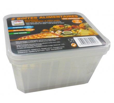 Boîtes alimentaires 1,15 Litre x 2