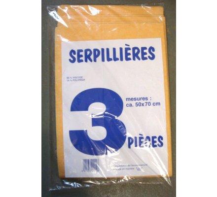 Serpillières x 3 : 50 x 70 cm