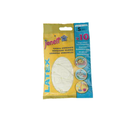Gants jetables x 10 - Taille 7 (moyens)