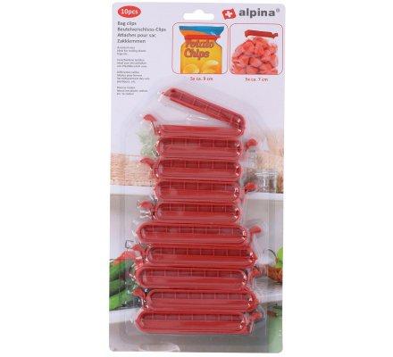 10 pinces plastique / Fermeture sachet