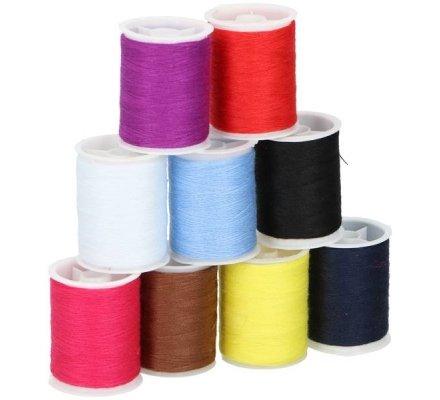 Bobines fil à coudre x 9 couleurs