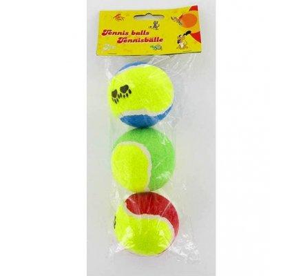 3 balles de tennis / Jouets pour chien