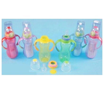 Biberon en plastique avec anses - 250 ml