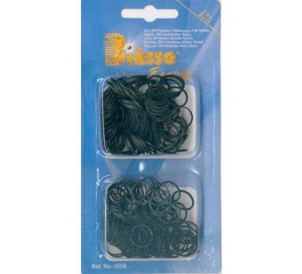 Elastiques noirs pour cheveux / Quantité : env. 200