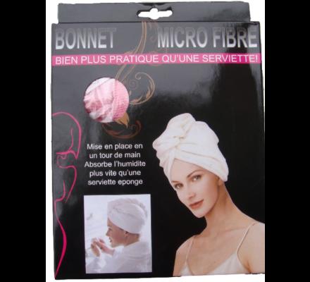 Bonnet serviette microfibre