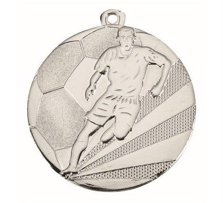 Médaille football en argent - 50mm