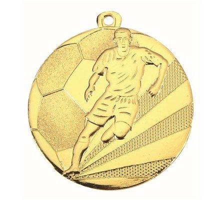Médaille football en or - 50mm