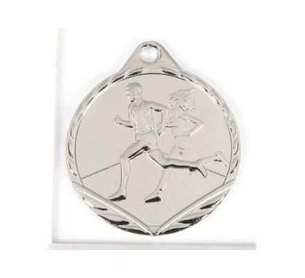Médaille argent course à pieds