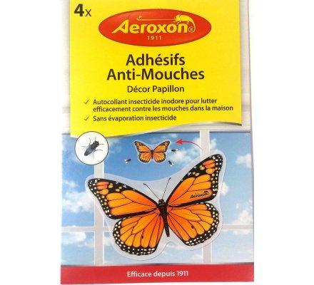 """4 adhésifs Anti-Mouches décor """"papillon ou coccinelle"""""""