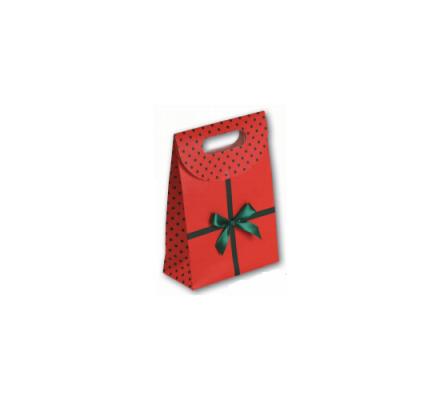 Boîte carton rouge avec motif