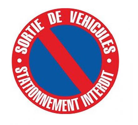 Disque sortie de véhicules